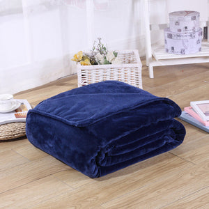Fleece Plaid Blue Blanket