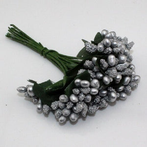 Gray Artificial Flowers Mulberry Bouquet