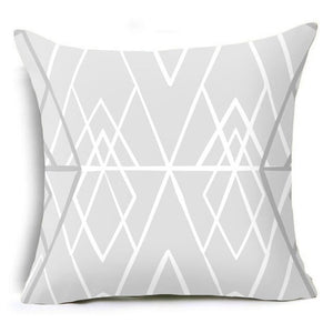 Trendy Gray and White Decorative Pillow Case