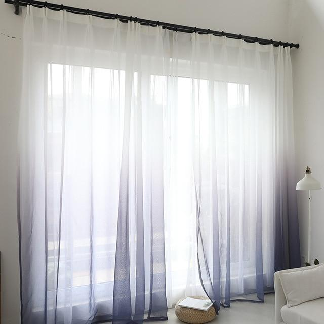 Purple Sheer Polyester Living Room and Bedroom Curtains - Hansel & Gretel Home Decor