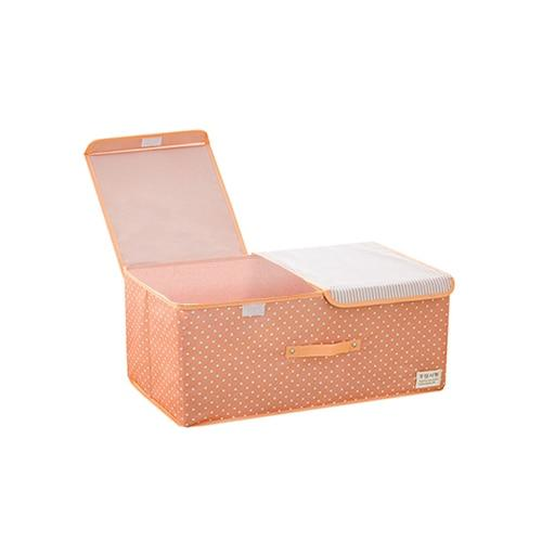 Rectangular Orange Storage Basket