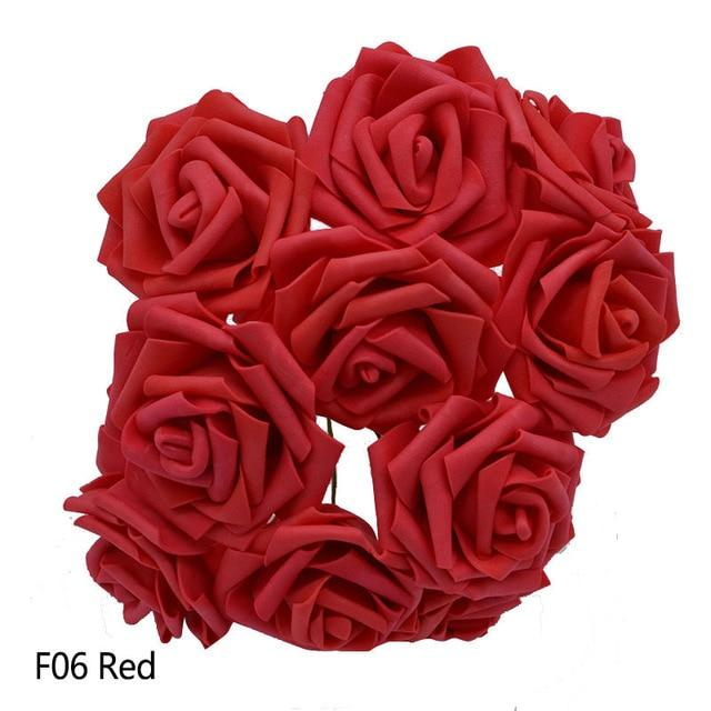 Red Artificial Flowers Rose Bouquet - Hansel & Gretel Home Decor