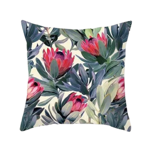 Modern Tropical Plants Decorative Pillow Case - Hansel & Gretel Home Decor