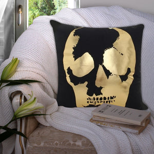 Modern Black and Gold Decorative Pillow Case - Hansel & Gretel Home Decor