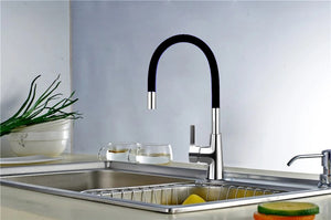 Brass Polished Black Kitchen Faucet Rotatable - Hansel & Gretel Home Decor