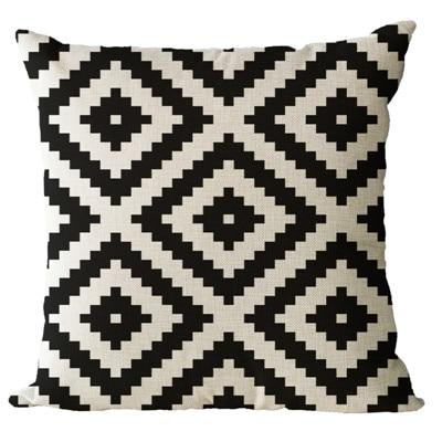Simple Patterned Black and Brown Decorative Pillow Case - Hansel & Gretel Home Decor