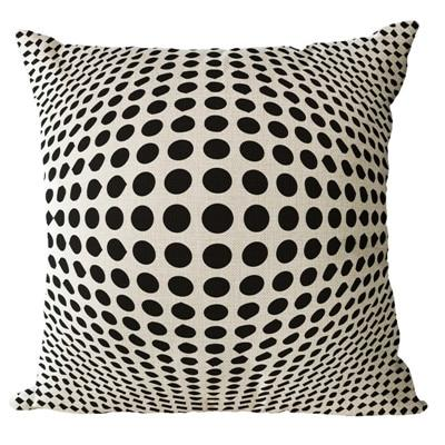 Simple Patterned Black and Brown Decorative Pillow Case