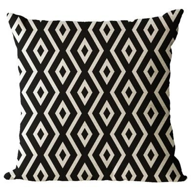 Simple Patterned Black and White Decorative Pillow Case - Hansel & Gretel Home Decor