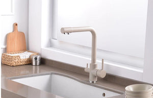 Brass Brown Kitchen Faucet Rotating and Water Purifying - Hansel & Gretel Home Decor