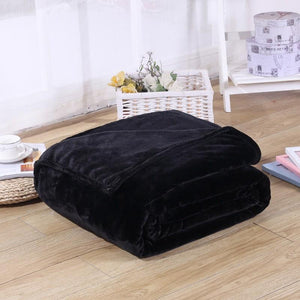 Soft Polyester Black Blanket - Hansel & Gretel Home Decor