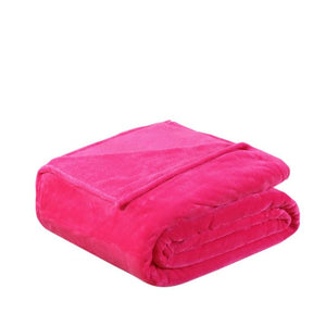 Soft Polyester Dark Pink Blanket - Hansel & Gretel Home Decor