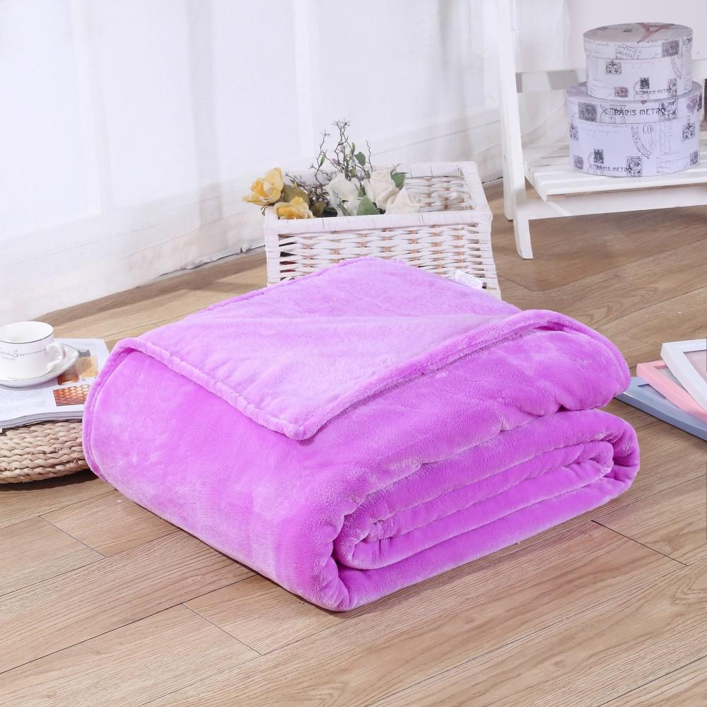 Soft Polyester Light Purple Blanket - Hansel & Gretel Home Decor