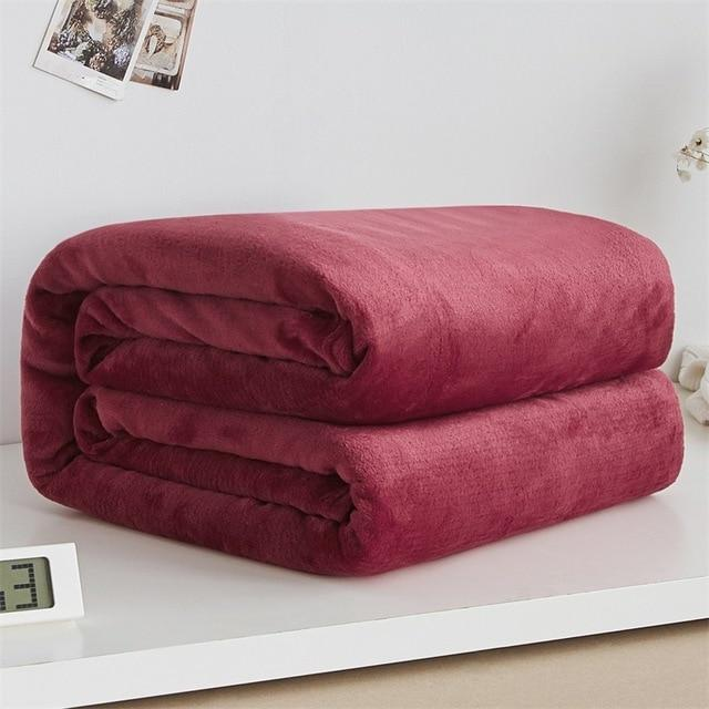 Soft Polyester Maroon Blanket - Hansel & Gretel Home Decor