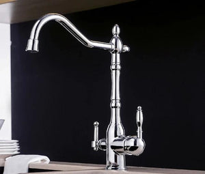 Solid Brass Chrome Kitchen Faucet Rotating and Water Purifying - Hansel & Gretel Home Decor