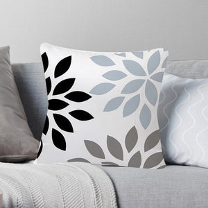 Luxurious Shades of Blue and Gray Decorative Pillow Case - Hansel & Gretel Home Decor