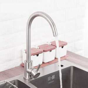 Stainless Steel Silver Kitchen Faucet 360 Degree Rotating - Hansel & Gretel Home Decor
