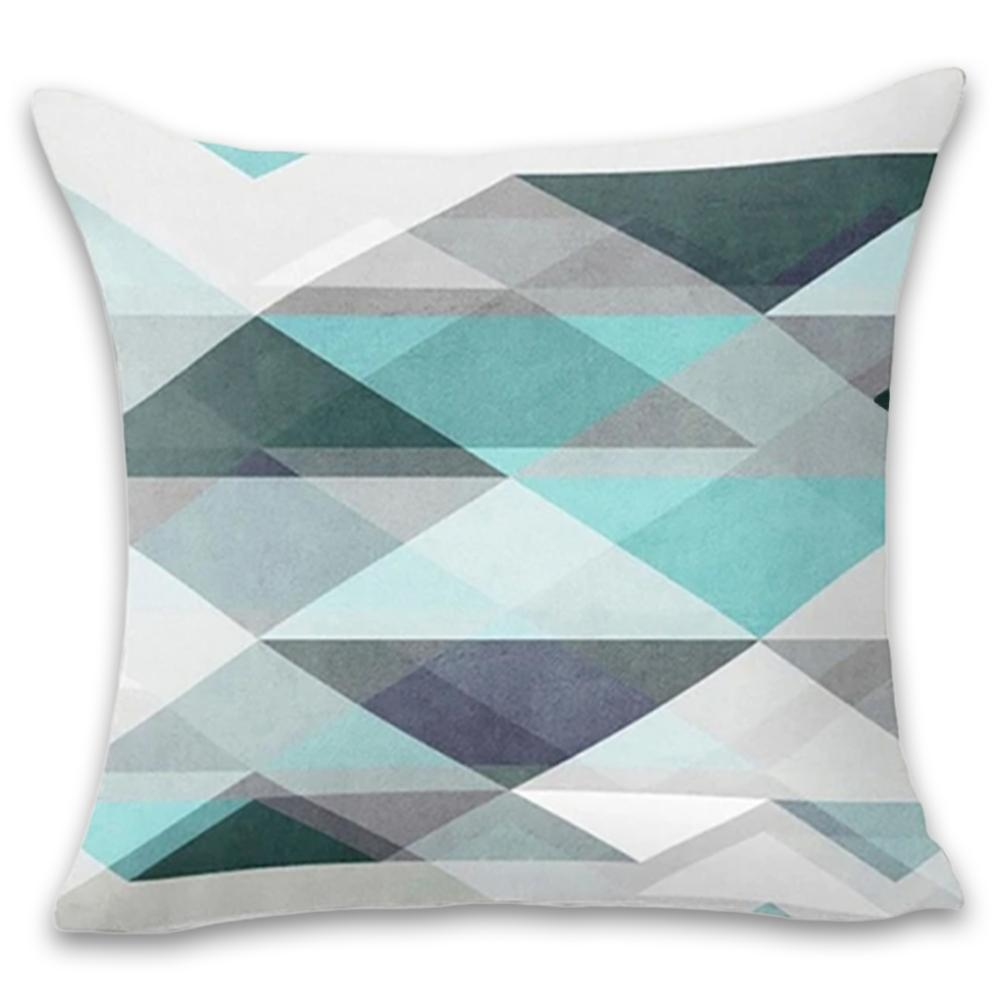 Trendy Shades of Green and Gray Decorative Pillow Case - Hansel & Gretel Home Decor
