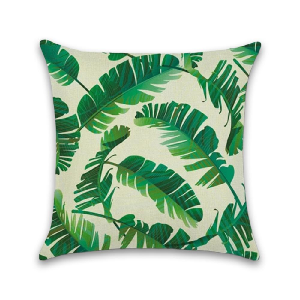 Tropical Green and White Decorative Pillow Case - Hansel & Gretel Home Decor