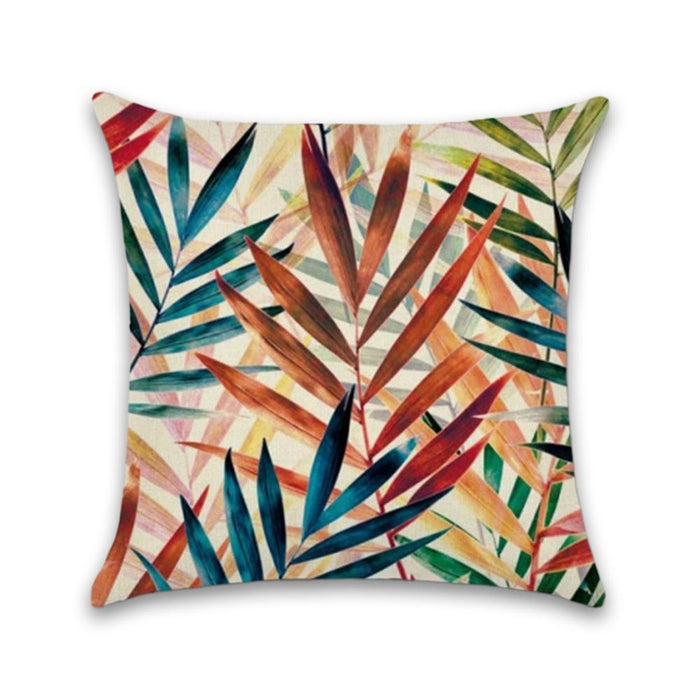 Tropical Multi-Colored Decorative Pillow Case