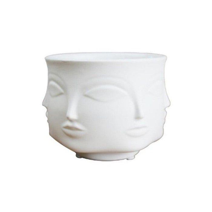 Unique Face Design Porcelain Vase