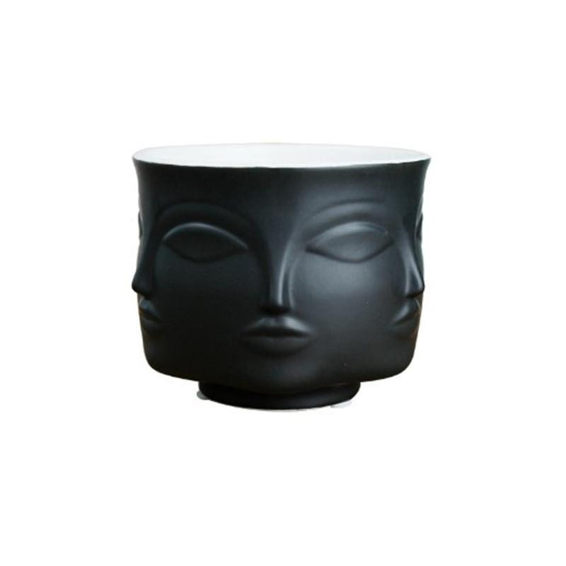 Unique Face Design Porcelain Vase - Hansel & Gretel Home Decor
