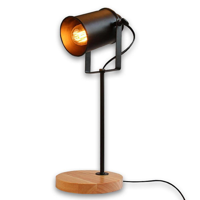 Vintage Wooden Adjustable Table Lamp