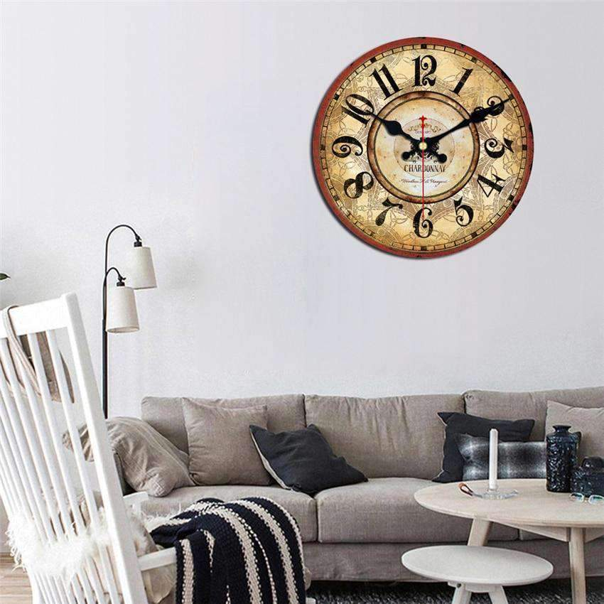Vintage Wooden Wall Clock Kathleen Model - Hansel & Gretel Home Decor