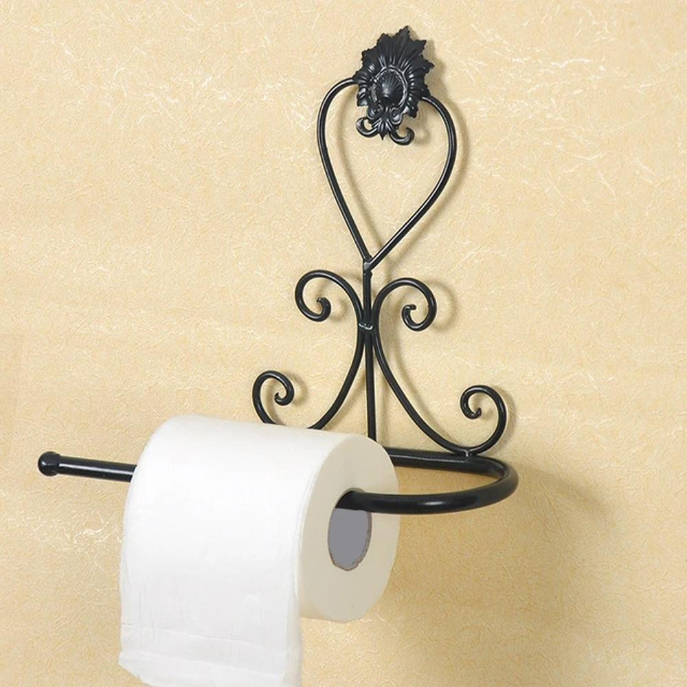 Vintage Wrought Iron Toilet Paper Holder - Hansel & Gretel Home Decor