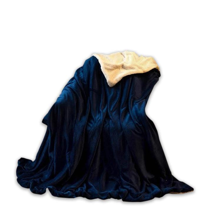 Warm Polyester Blue Throw