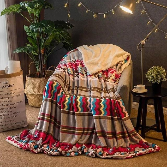Warm Polyester Multicolored Throw - Hansel & Gretel Home Decor