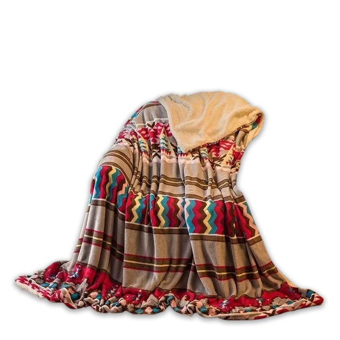 Warm Polyester Multicolored Throw