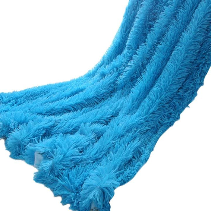 Waterproof Polyester Blue Throw