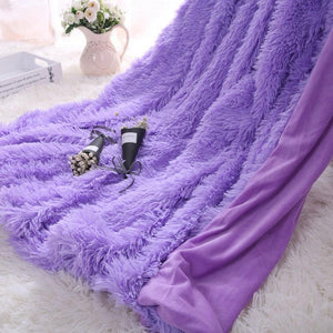 Waterproof Polyester Purple Throw - Hansel & Gretel Home Decor