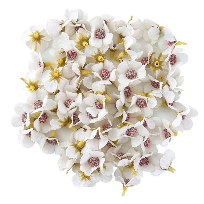 White Artificial Flowers Daisy Heads