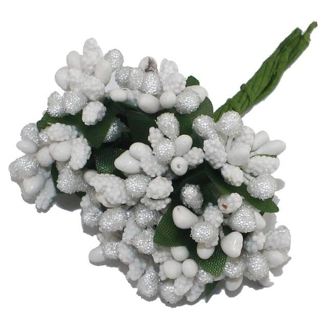 White Artificial Flowers Mulberry Bouquet