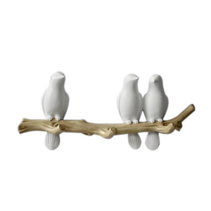 White Modern Wall Hook-Hansel & Gretel Home Decor