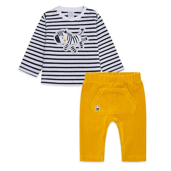 STRIPES N'DOTS JERSEY T-SHIRT AND TROUSERS