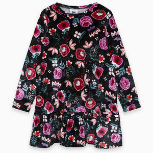 MISS FLOWER VELVET DRESS