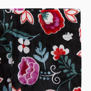 MISS FLOWER VELVET JERSEY LEGGINGS