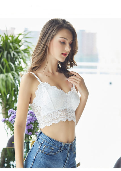 Womannewstyle 2020 New Arrival Women Push Up Wireless Lace Bra