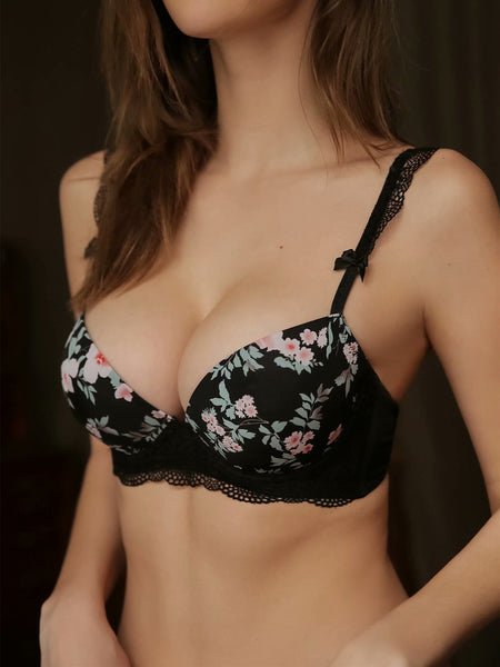 Womannewstyle High-end Brand Sexy Print Bra set