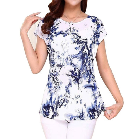 womannewstyle 5XL Women Ladies  printing Shirts