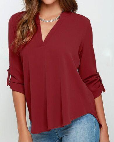 Chiffon Blouse shirt Women