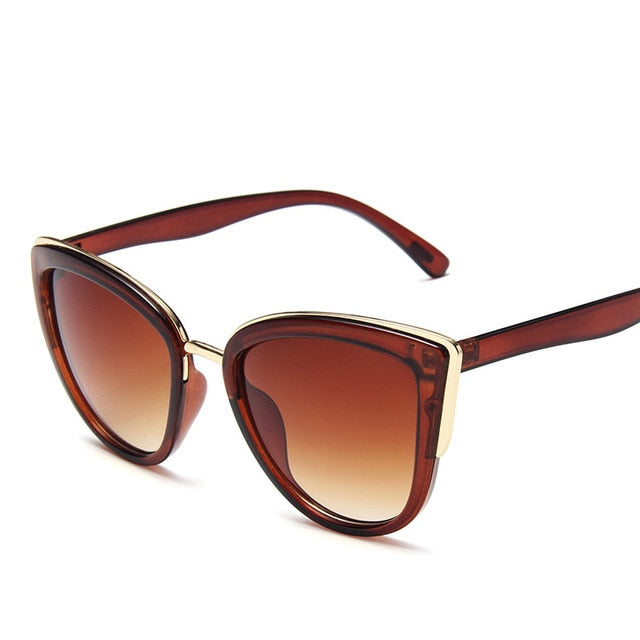 Womannewstyle Fashion Cateyes Sunglasses Women Luxury Glass