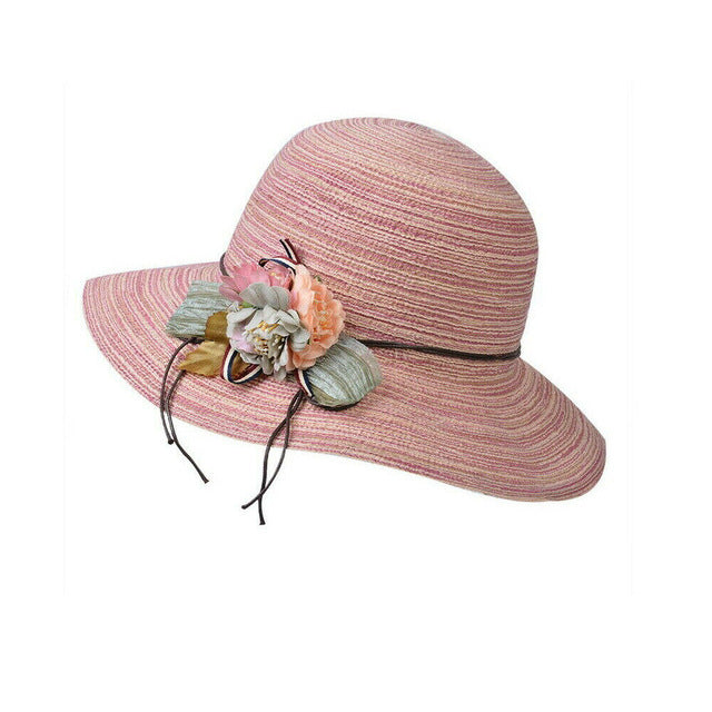 Womannewstyle Fashion Summer Beach Medium Brim Foldable Hat
