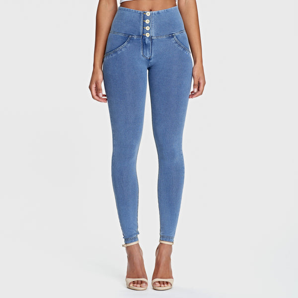 Womannewstyle Light Blue Color Butt Lifting Jeans