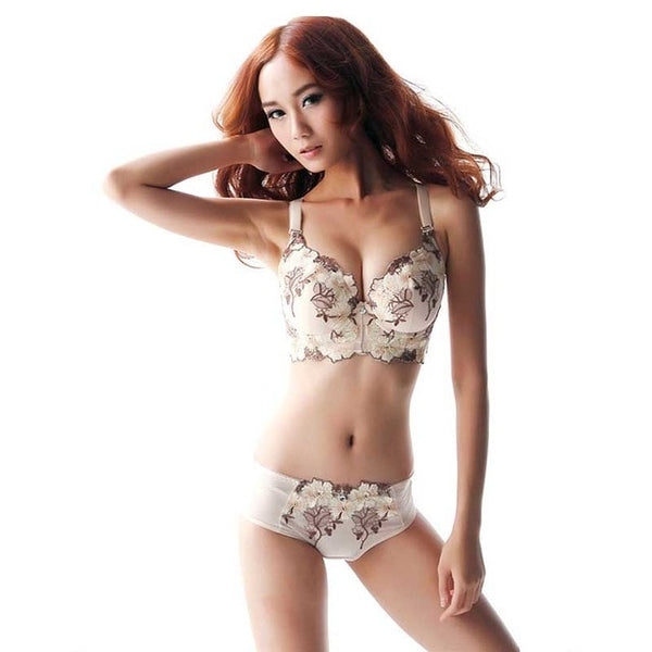 Womannewstyle Famous Brand Sexy High Quality Women Print Bra set