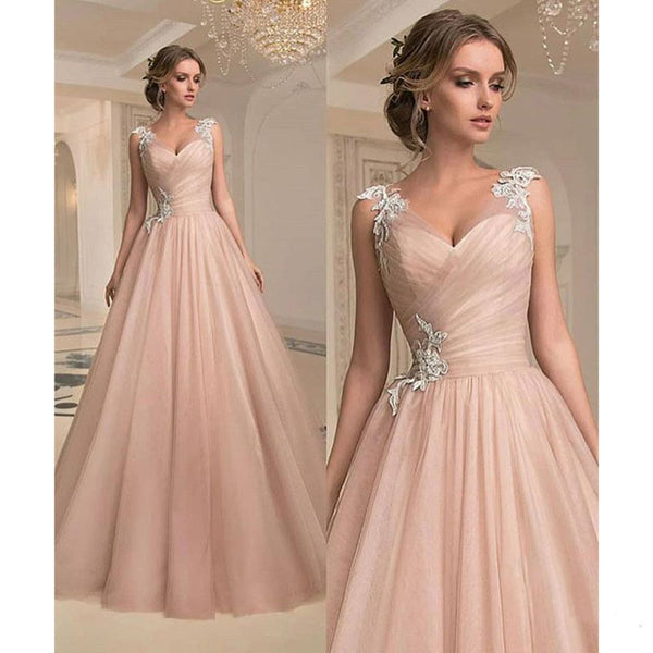 Womannewstyle 2020 Size Plus V-neck Tube Top Mesh Wedding Party Dress