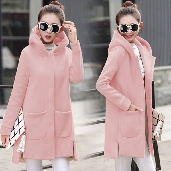 Womannewstyle Autumn Winter Women's Fleece Jacket