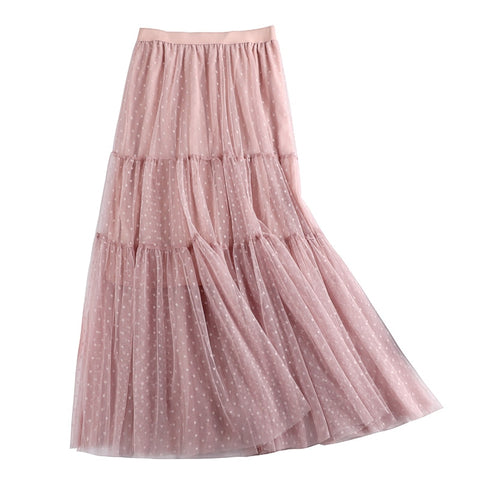 Summer 2020 New Long Pleated Skirts